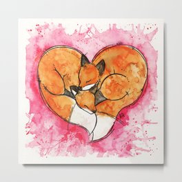 Fox Love Metal Print