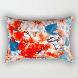 Geometric Flowers and Bees Rectangular Pillow