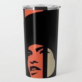 Angela Davis Retro Homage Travel Mug