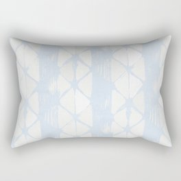 Simply Braided Chevron Sky Blue on Lunar Gray Rectangular Pillow