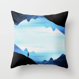 Blue Wasteland Isolation Throw Pillow