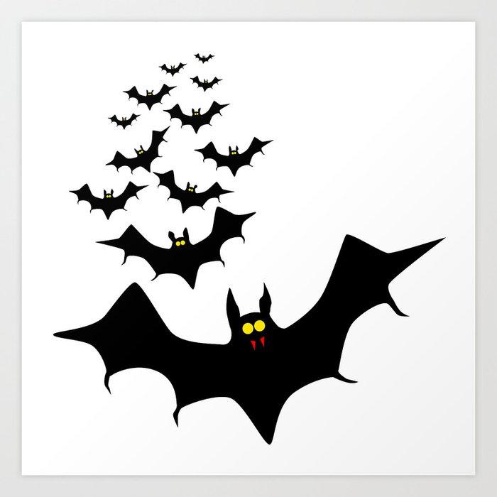 isolated bats art print by homestead society6