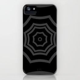 Black and Grey Striped Mandala Star iPhone Case