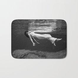 Black and White Fashion Print - Vintage Underwater Bath Mat