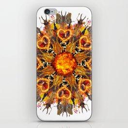 horrible insects mandala iPhone Skin