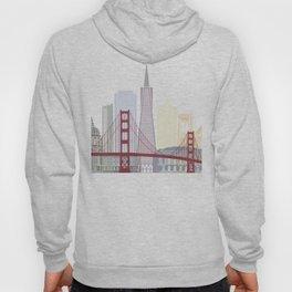 San Francisco skyline poster Hoody