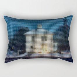 White house w/first snow & creche Rectangular Pillow