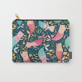 Mercats Galore Pattern Carry-All Pouch