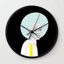 Chevron Hair Wall Clock