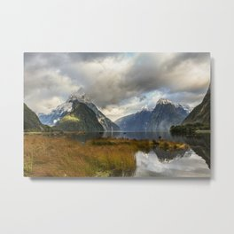 Mitre Peak, Milford Sound, New Zealand Metal Print