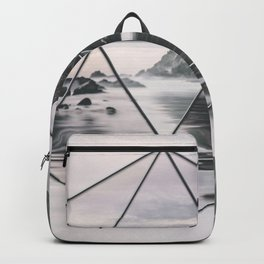 Surreal Geometric Calm Water Landscape View Hexagon Backpack