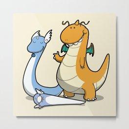Pokémon - Number 147, 148 and 149 Metal Print