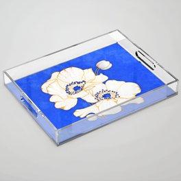 Ultramarine Blue :: Anemones Acrylic Tray