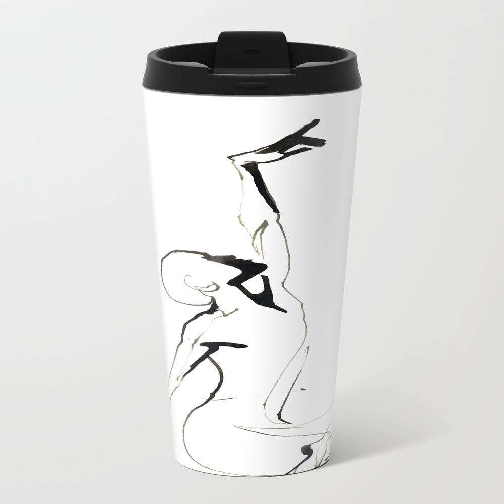 India Ink Dance Drawing Travel Mug TRM9008123