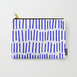 Blue Scandi Paint Print Carry-All Pouch