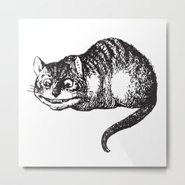 Cheshire Cat - Alice in wonderland Metal Print