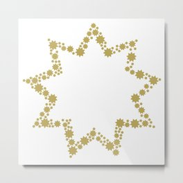 9 Points of Gold Metal Print