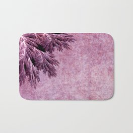 Frost in pink Bath Mat