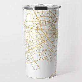 DOHA QATAR CITY STREET MAP ART Travel Mug