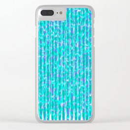 Fleeing Trees Pattern Clear iPhone Case