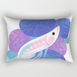 Arowana and peony Rectangular Pillow
