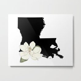 Louisiana Silhouette Metal Print