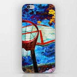 Colorful Modern Basketball Art iPhone Skin