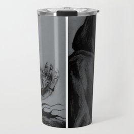Skeleton Holding Diamond Travel Mug
