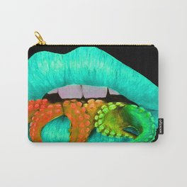 Blue Octo Lips Carry-All Pouch