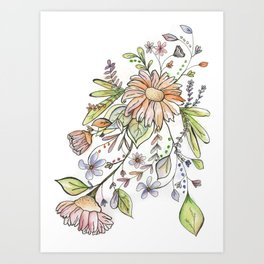 Watercolor Floral Illustration Art Print