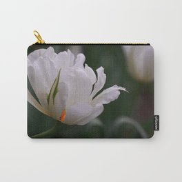 Expressive White Tulip Carry-All Pouch