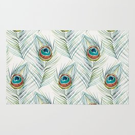 Peacock Tail Feather – Watercolor Rug