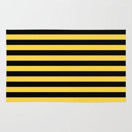 Even Horizontal Stripes, Yellow and Black, M Rug