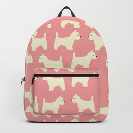 West Highland Terrier in pink Backpack