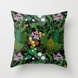 Botanical Bog Throw Pillow