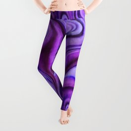 Violet wavy abstract Leggings