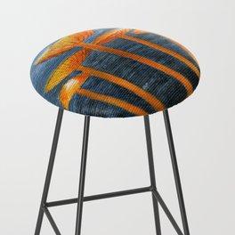 Tangerine Fungi by Teresa Thompson Bar Stool
