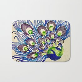 Blueberry Lime Peacock Bath Mat
