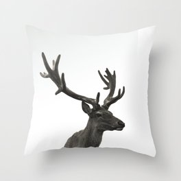 Single Deer Throw Pillow