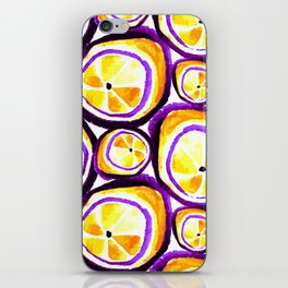 Sweet Plum Lemon iPhone Skin
