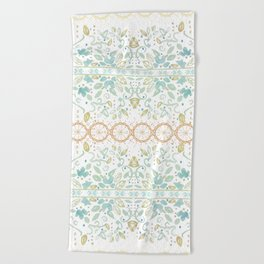 Boho floral Beach Towel
