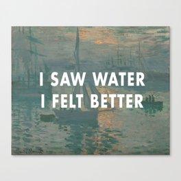 I Saw Water x French Sunrise Canvas Print