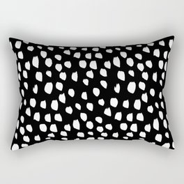 Handdrawn drops and dots on black - Mix & Match with Simplicty of life Rectangular Pillow
