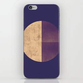 Black and Gold Circle 42 iPhone Skin