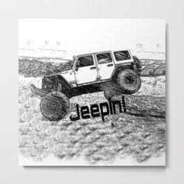 Jeep Wrangler Metal Print