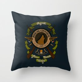 Sgt Bucky Barnes (green) Throw Pillow