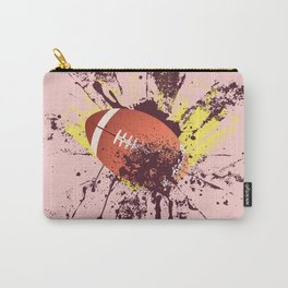 Grunge Rugby ball Carry-All Pouch