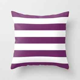Byzantium - solid color - white stripes pattern Throw Pillow