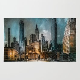 A Storm in New York City Rug