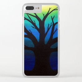 3 Visions Art Moon Tree Clear iPhone Case